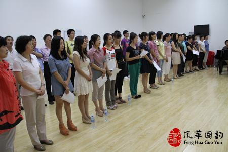 我校老师为北京航科发动机控制系统科技有限公司排演合唱