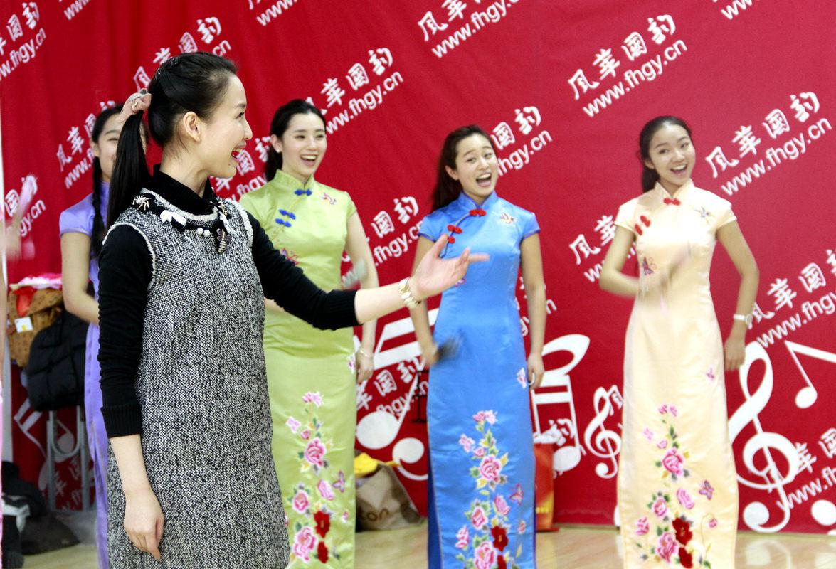 中国音乐学院李琳老师在风华国韵排练经典民歌