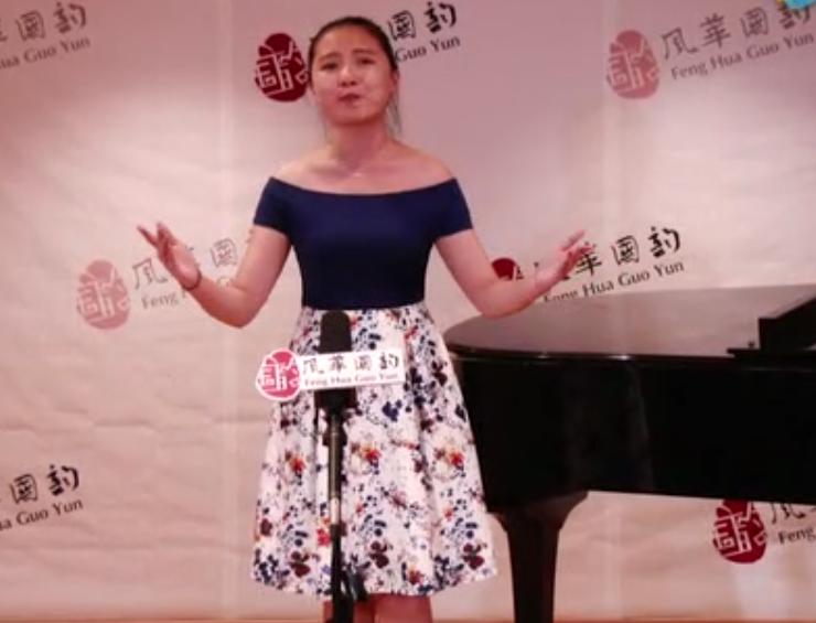学员汇报考试如期举行,毕业学员周紫璇献唱助阵
